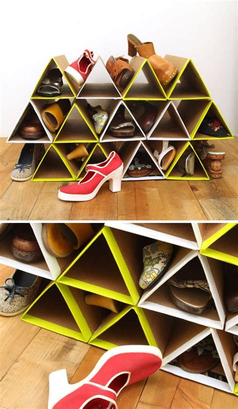 Easy Diy Cardboard Shoe Rack