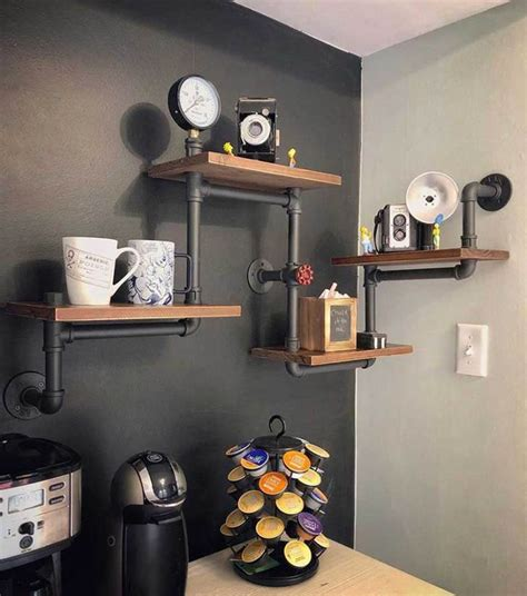 Easy Diy Industrial Pipe Wall Shelf
