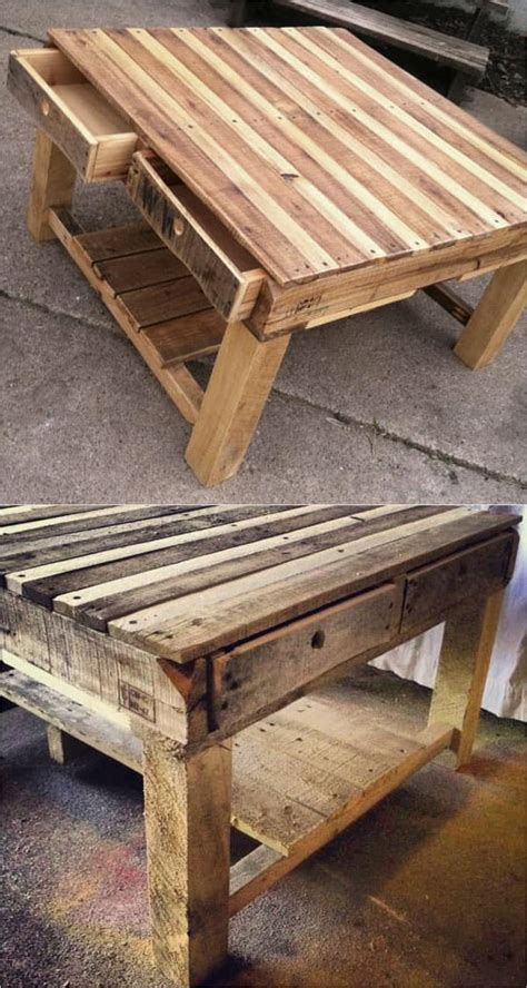Easy Diy Pallet End Table