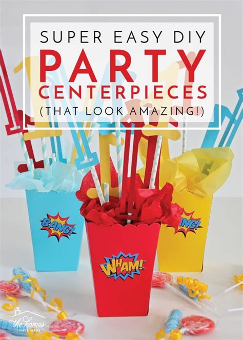 Easy Diy Party Centerpieces