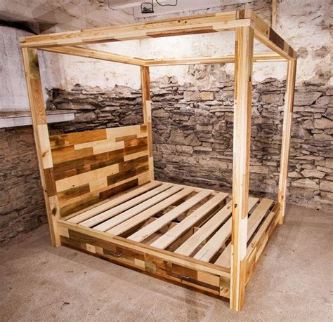 Easy Diy Platform Bed Platform Bed With Drawers Normandy Four Poster