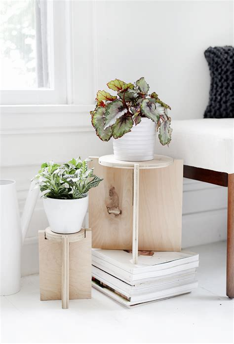 Easy Diy Scrap Wood Plant Stands