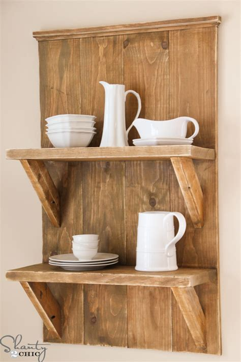 Easy Diy Shelves From Wood