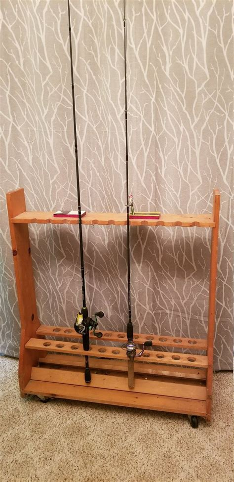 Easy Fishing Rod Rack Plans