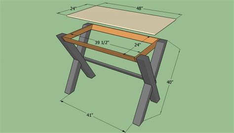 Easy To Build Desk Plans