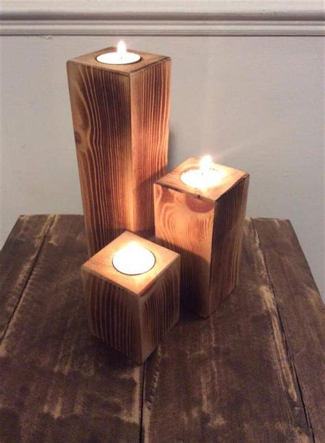 Easy Wood Candle Holder Diy Wood