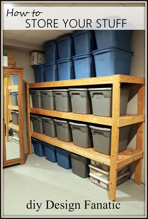Easy-Basement-Storage-Shelves-Plans