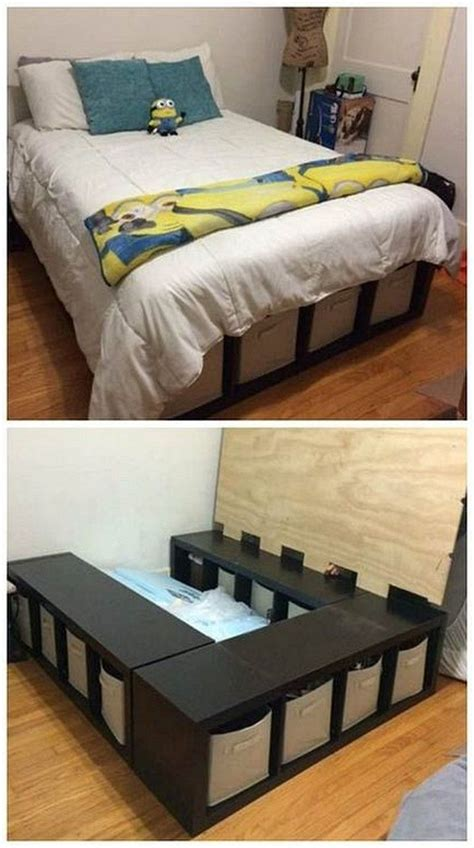 Easy-Diy-Bed-Frame-With-Storage