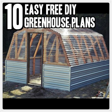 Easy-Greenhouse-Plans-Free