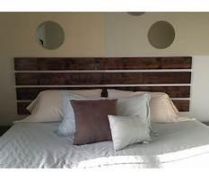 Best Easy to make wood headboard