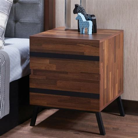 Egor Square 2 Drawer Nightstand