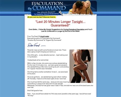@ Ejaculation By Commande  Hot Offer For Lasting Longer In Bed.