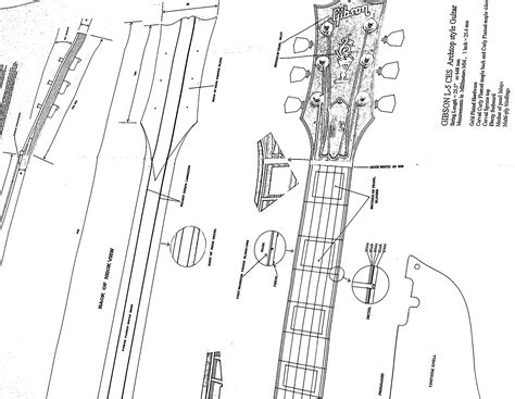 Electric Guitar Plans Full Size