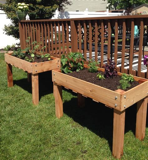 Elevated Garden Bed Planter Plans
