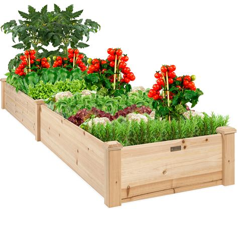 Elevated Garden Planter Natural
