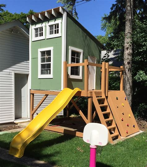 Elevated Kids Clubhouse Plans