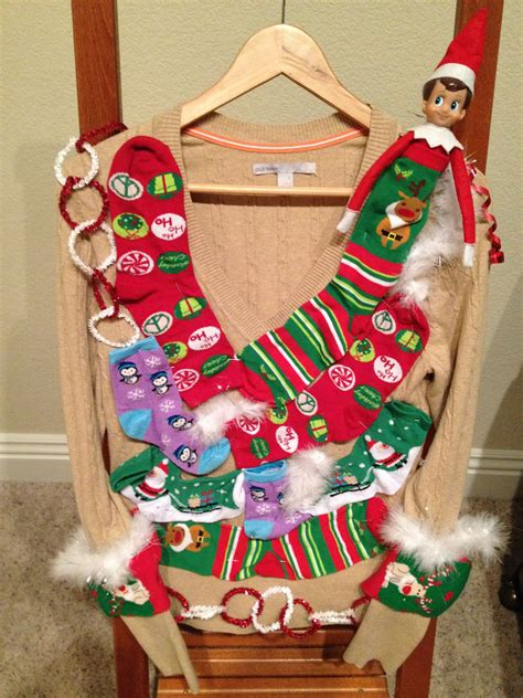 Elf On The Shelf DIY Ugly Sweater