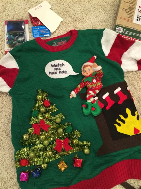 Elf-On-The-Shelf-Ugly-Sweater-Diy