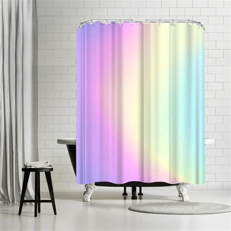 Emanuela Carratoni Holographic Texture Shower Curtain By East Urban Home