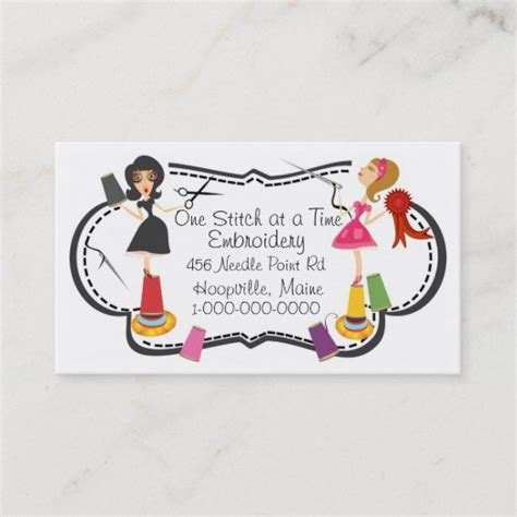 Embroidery Company Business Cards
