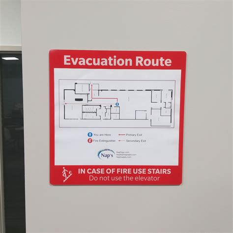 Emergency Frame Sign For Evacuation Plan