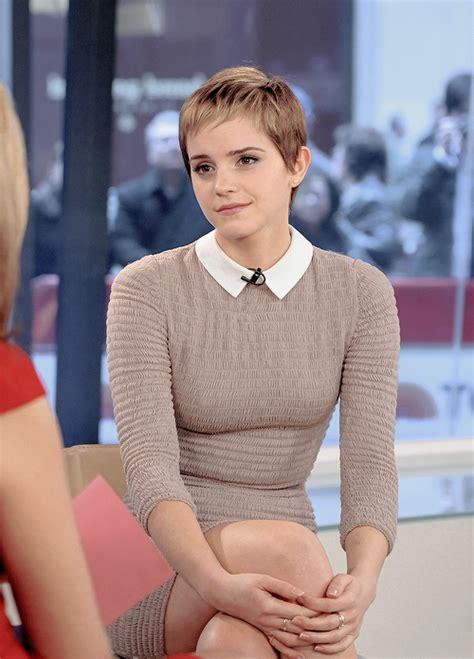 Emma Watson Short Hair Outfits