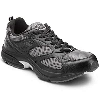 Endurance Plus Men's Therapeutic Diabetic Extra Depth Shoe Leather-and-Mesh Lace