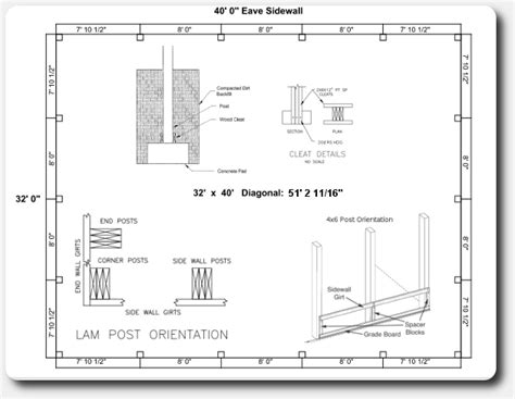 Engineered Stamped Pole Barn Plans