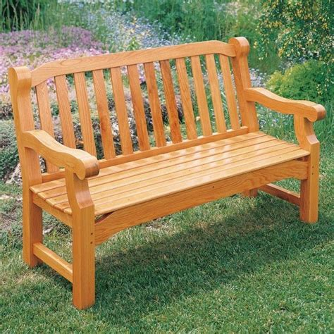 English Garden Bench Building Plans