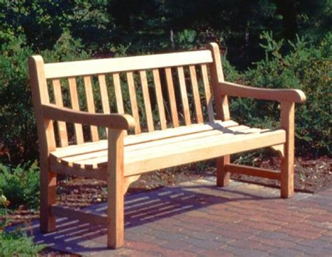 English Park Bench Woodworking Plans