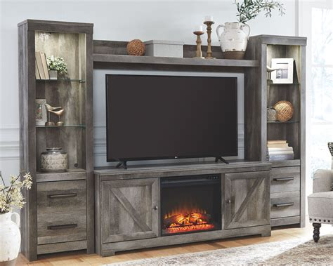 Entertainment Center With Fireplace Plans