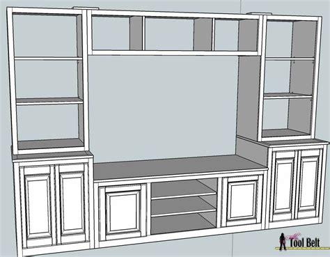 Entertainment-Center-Bookcase-Plans