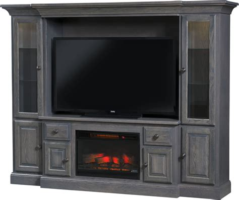 Entertainment-Center-With-Fireplace-Plans