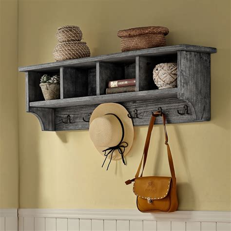 Entryway Coat Rack With Three Cubbies