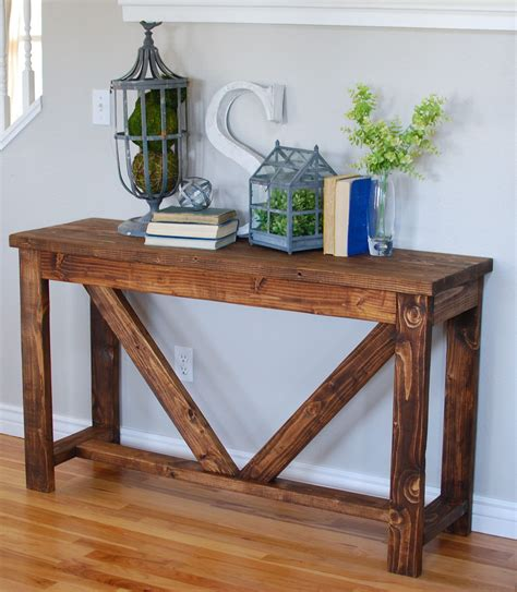 Entryway Console Table 1x2s Diy
