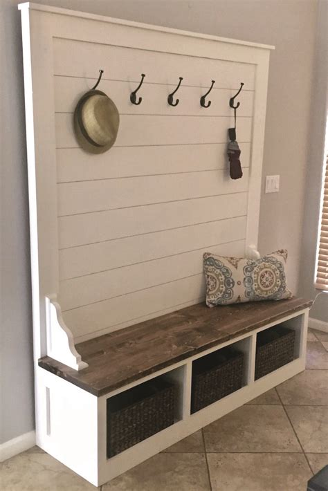 Entryway Hall Tree Bench Plans