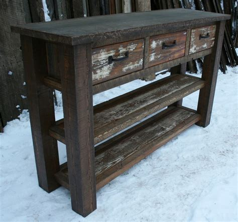 Entryway Table Salvaged Chest Diy