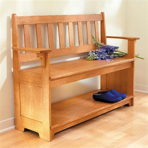 Entryway Wood Bench Plans