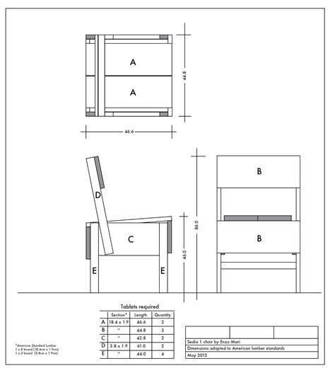 Enzo-Mari-Chair-Plans