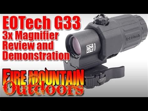 Eotech G33 3x Magnifier By L3 - Review And Demonstration.