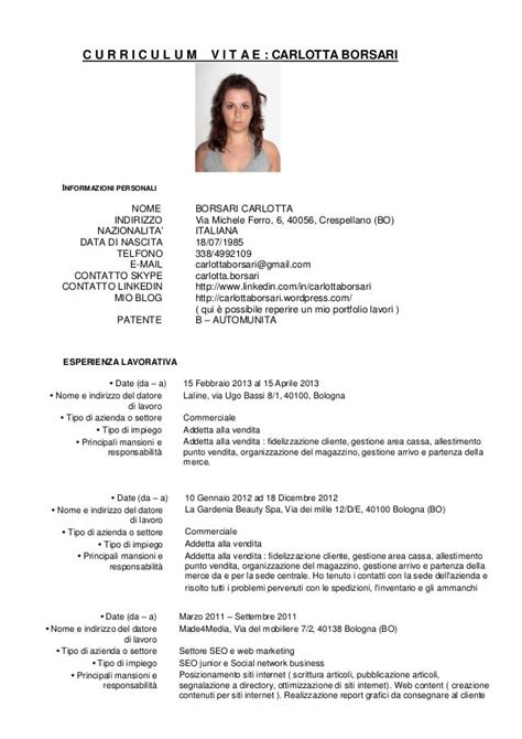 Curriculum Vitae Europass Esempio Inglese Movie Thesis Ideas