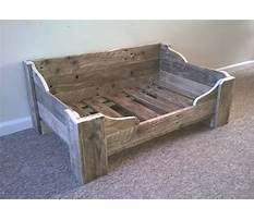 Best Etsy wood dog bed