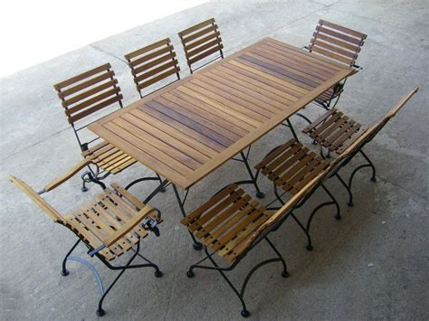 European Caf? Folding Teak Dining Table