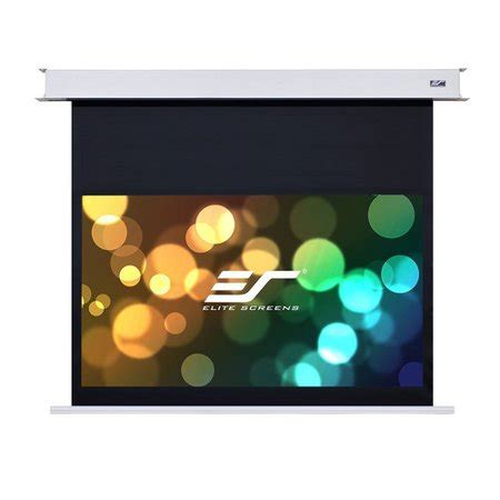 Evanesce White 150 Diagonal Electric Projection Screen By Elite Screens