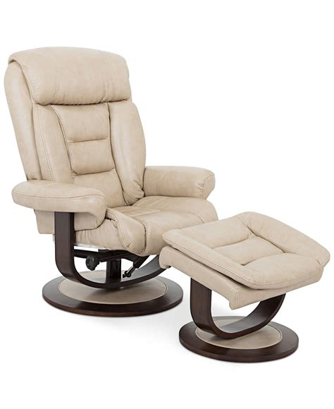Eve Leather Recliner With Ottoman