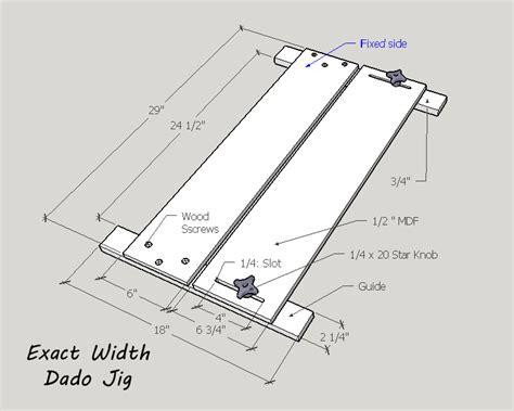 Exact-Width-Dado-Jig-Plans