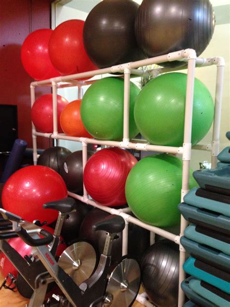 Exercise Ball Rack Diy