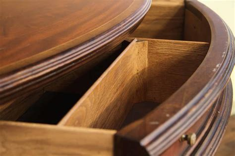 Expandable Dining Table Plans With Leaf Storage Cabinets