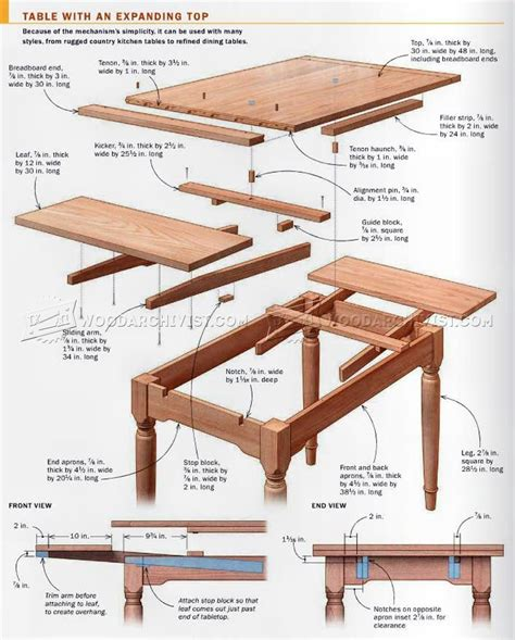 Expanding Table Plans Download