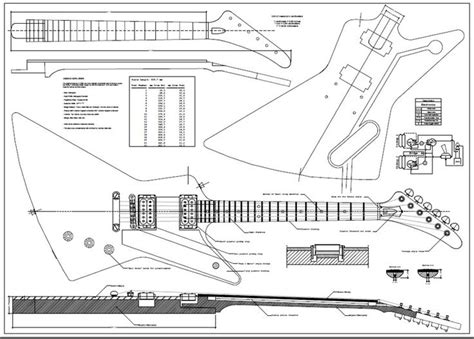Explorer Guitar Body Plans And Sections